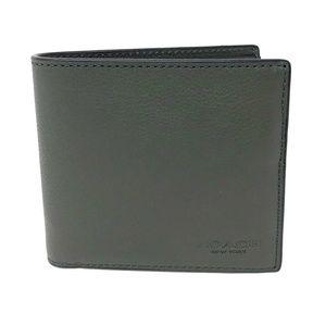 Coach Men's Dark Green Billfold Leather Wallet